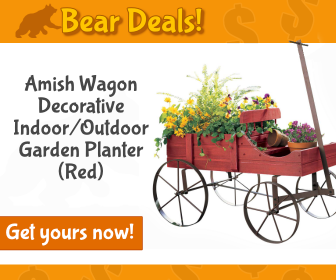 Amish Wagon Planter_Bear Deals