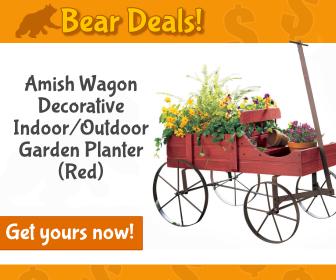 Amish Wagon Planter_Bear Deals