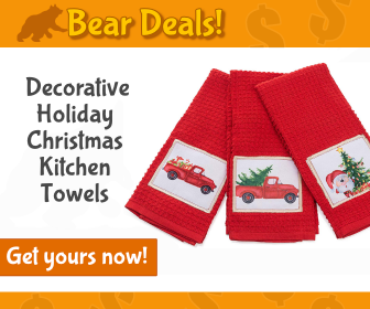 Decorative Christmas Kitchen Towels_Bear Deals