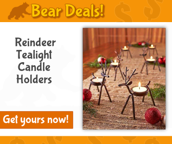 Reindeer Tealight Candle Holders_Bear Deals