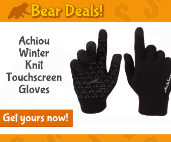 Achiou Winter Knit Touchscreen Gloves_Bear Deals