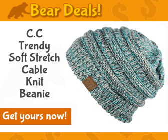 C.C Trendy Cable Knit Beanie_Bear Deals