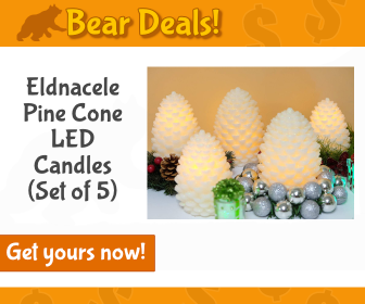 Eldnacele Christmas Pine Cone LED Candles _Bear Deals